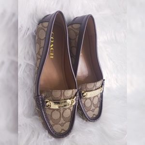 Coach Signature Loafers ...Size 7.5 ...